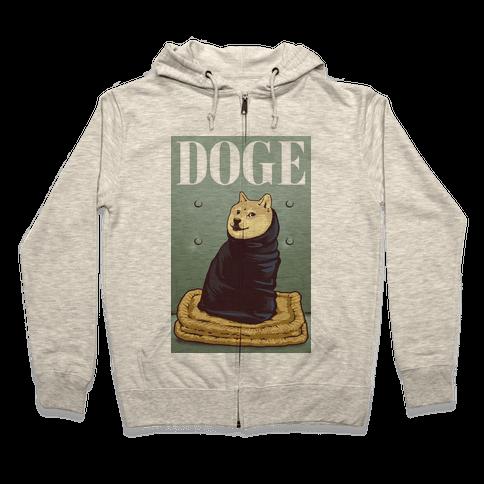 Fashion Doge (vogue parody) Zip Hoodie