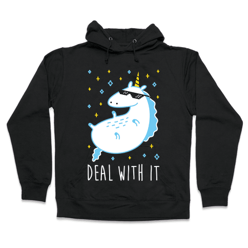 Deal With It Unicorn Hooded Sweatshirt
