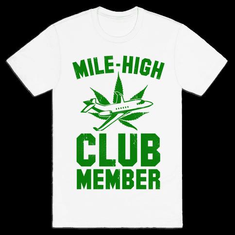 5918278dfb Mile-High Club Member (vintage tee) Mens T-Shirt