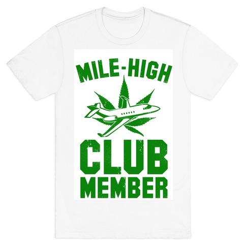 Mile-High Club Member (vintage tee) Mens T-Shirt