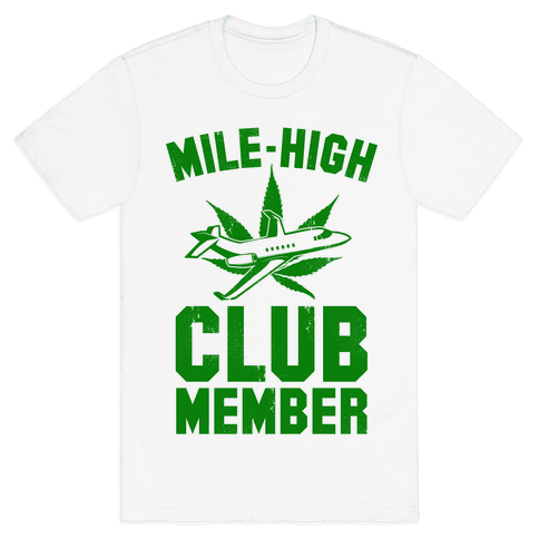 Mile-High Club Member (vintage tee) Mens T-Shirt