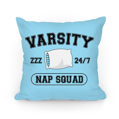 Varsity Nap Squad Pillow
