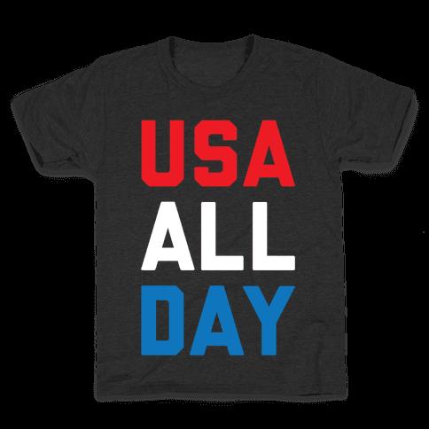 USA All Day Kids T-Shirt