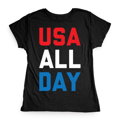 USA All Day Womens T-Shirt