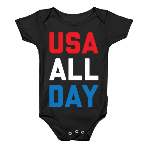 USA All Day Baby Onesy