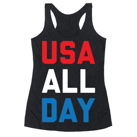USA All Day Racerback Tank Top