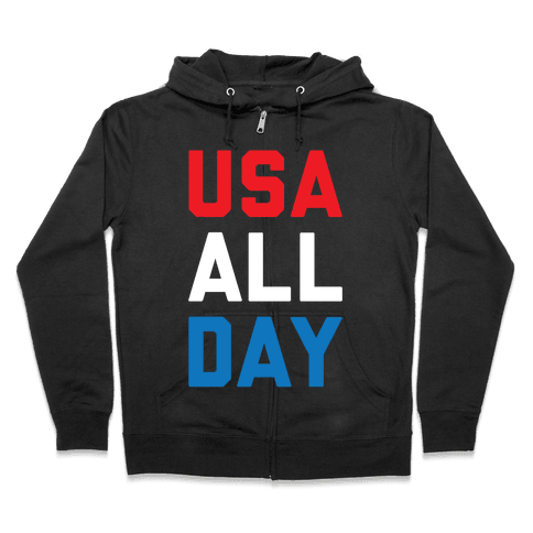 USA All Day Zip Hoodie