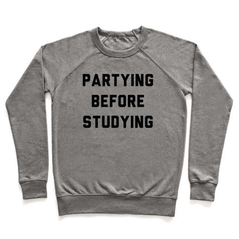 Partying Before Studying Pullover