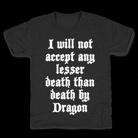 Death By Dragon Kids T-Shirt