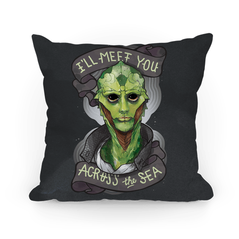 I'll Meet You Across The Sea (Thane) Pillow
