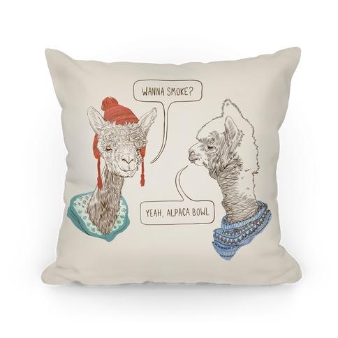 Alpaca Bowl Pillow