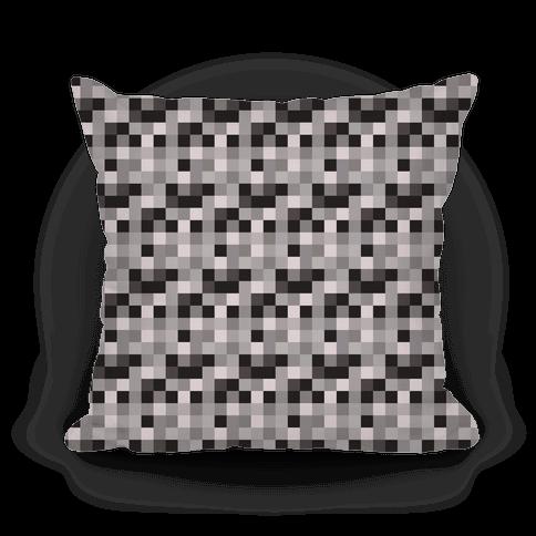 Black and White Gamer Pixel Pattern