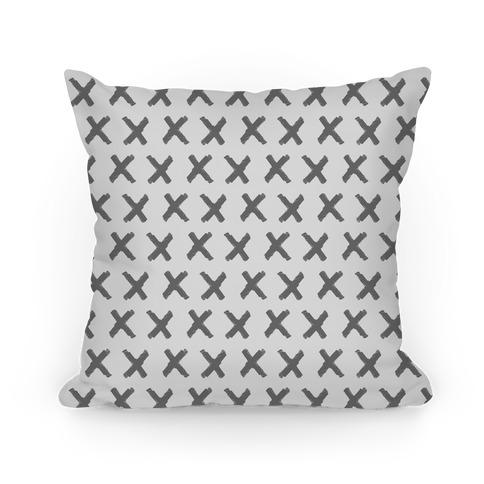 Gray Criss Cross Pattern Pillow