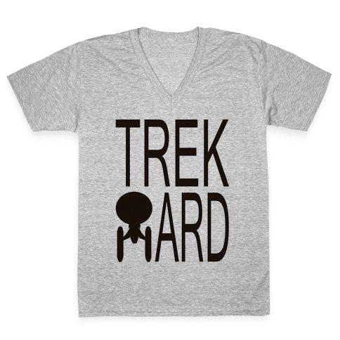 TREK HARD V-Neck Tee Shirt