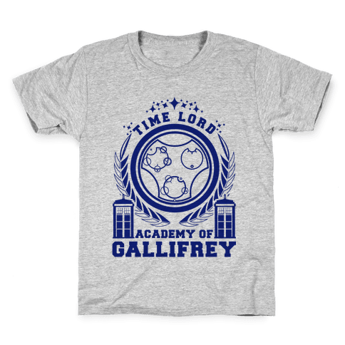 Time Lord Academy of Gallifrey Kids T-Shirt