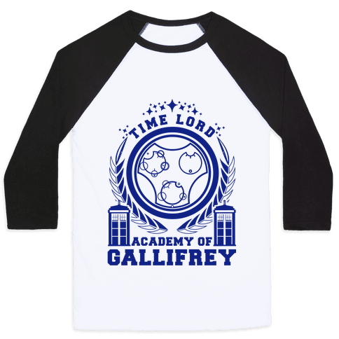Time Lord Academy of Gallifrey Baseball Tee