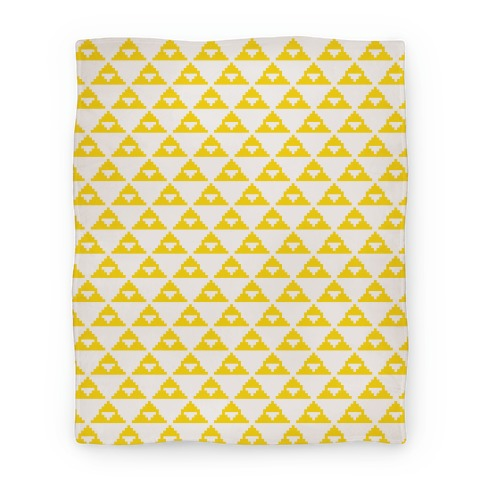 Pixel Triforce Blanket Blanket
