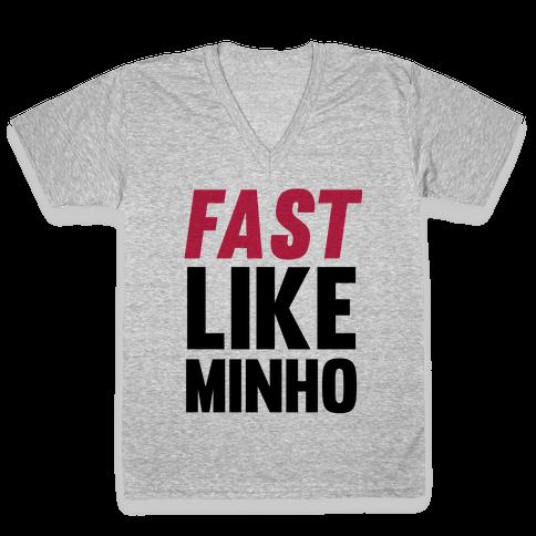 Fast Like Minho V-Neck Tee Shirt