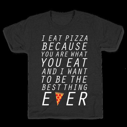 I Eat Pizza Kids T-Shirt