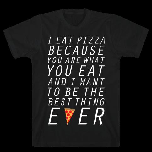 I Eat Pizza Mens T-Shirt