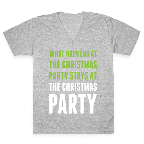 Christmas Party V-Neck Tee Shirt