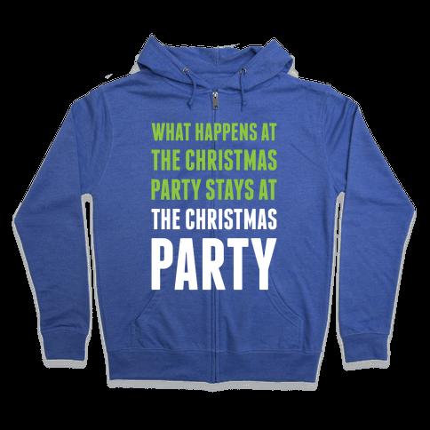 Christmas Party Zip Hoodie