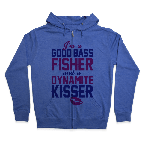 Bass Fisher And Dynamite Kisser Zip Hoodie