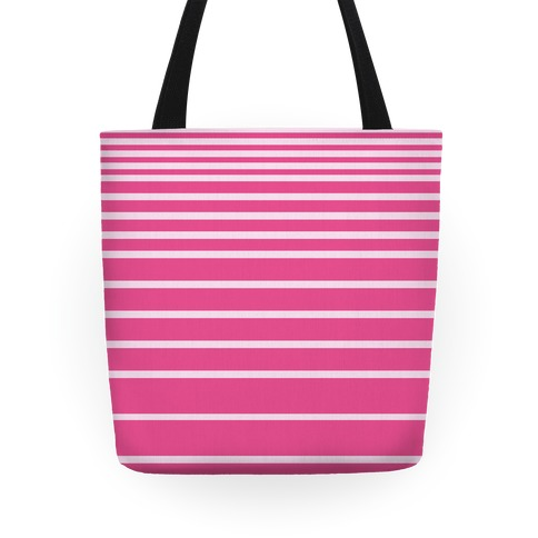 Pink Stripe Tote