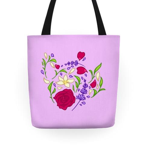 Floral Teapot Tote