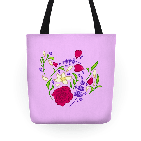 Floral Teapot Tote