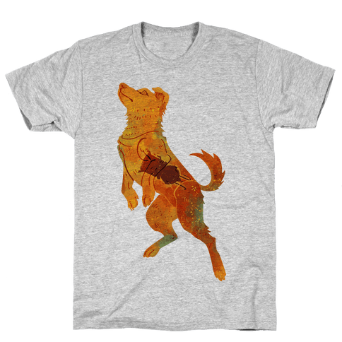 Astronaut Dog Zvezdochka Mens T-Shirt