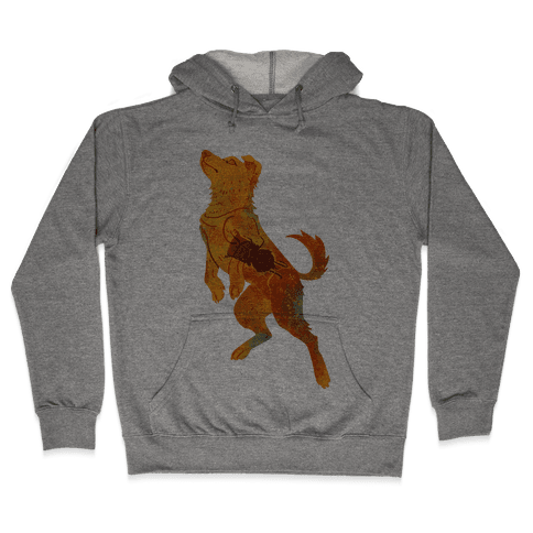 Astronaut Dog Zvezdochka Hooded Sweatshirt