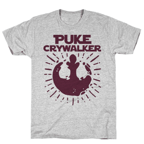 Puke Crywalker  Mens T-Shirt