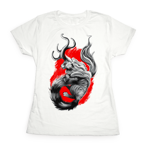 Catalope and Red Womens T-Shirt