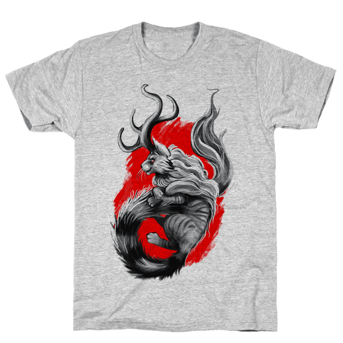 Catalope and Red Mens T-Shirt