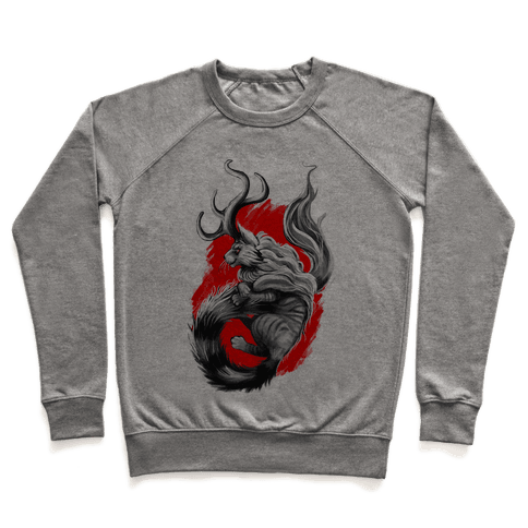 Catalope and Red Pullover