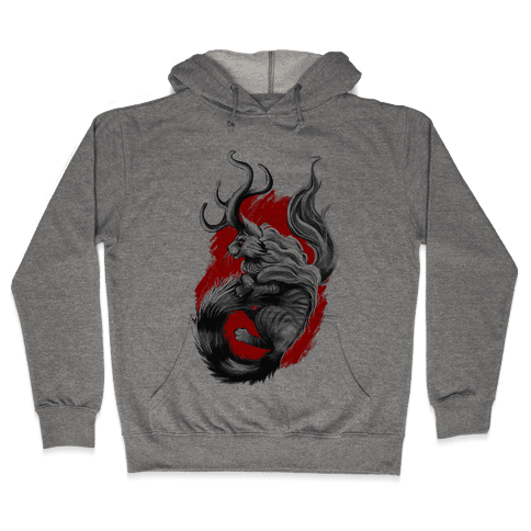 Catalope and Red Hooded Sweatshirt