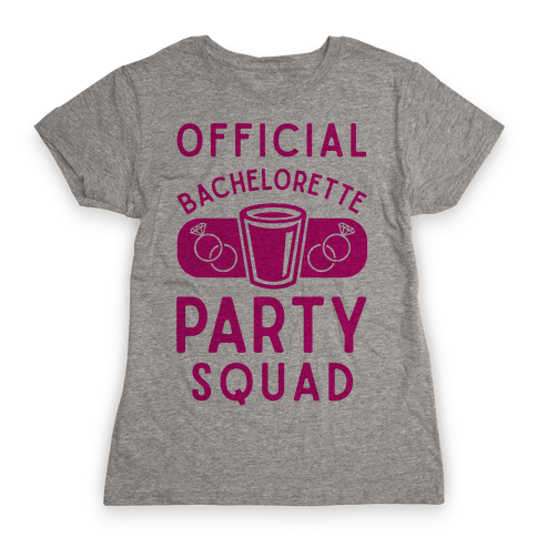 Official Bachelorette Party Squad Womens T-Shirt