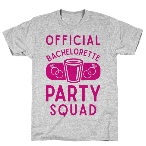 Official Bachelorette Party Squad Mens T-Shirt