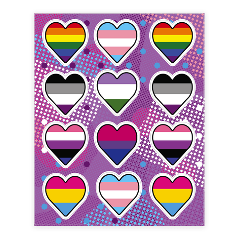 Sexuality Pride Flag  Sticker/Decal Sheet