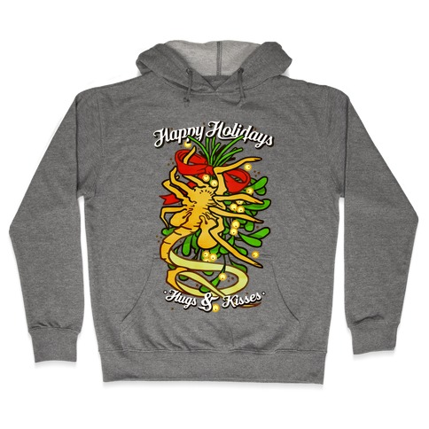 Happy Holidays Hugs and Kisses Hooded Sweatshirt