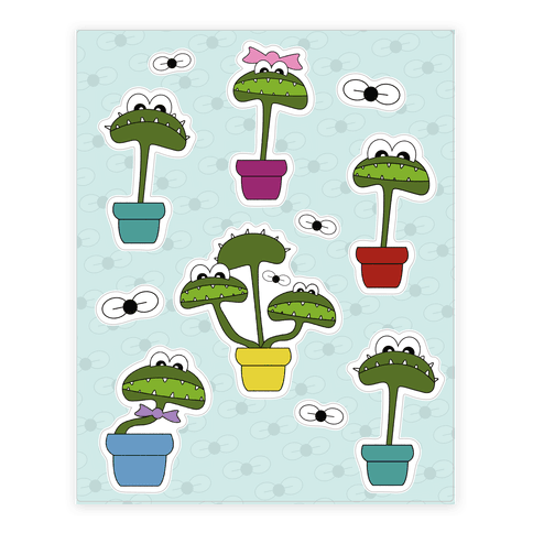 Venus Fly Trap  Sticker/Decal Sheet