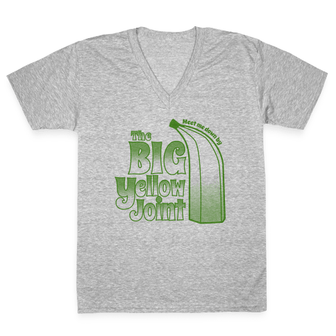 The Big Yellow Joint V-Neck Tee Shirt