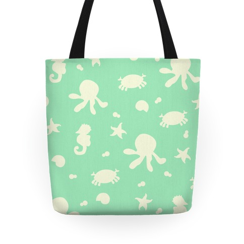 Sea Creature Pattern (Mint) Tote