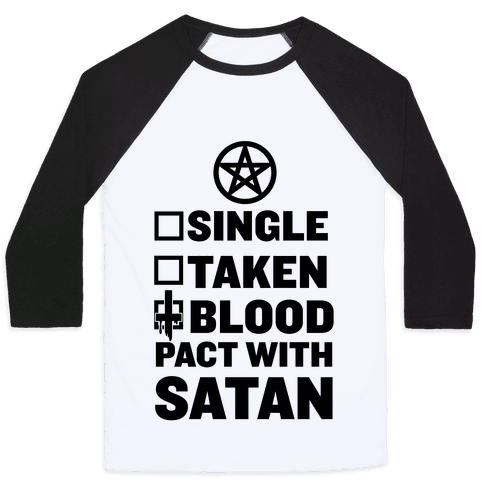 Blood Pact With Satan Baseball Tee