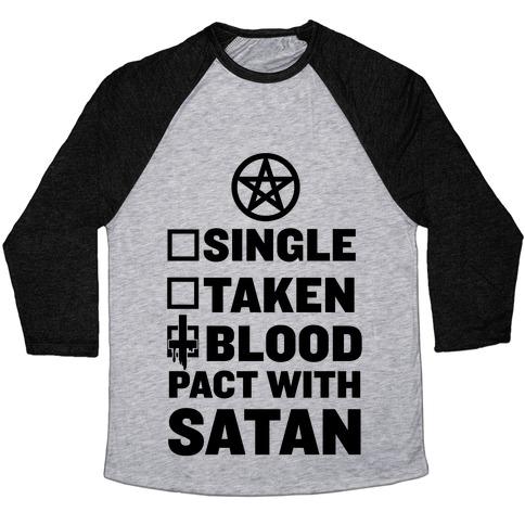 Blood Pact With Satan Baseball Tee