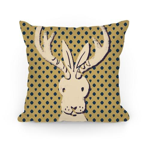 American Folklore Jackalope Pillow
