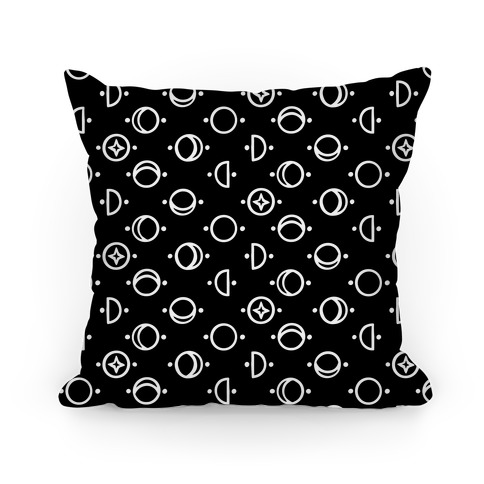 Moon Glyphs Pattern Pillow