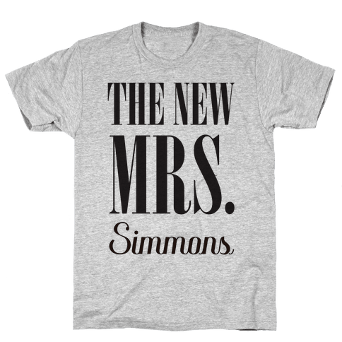 The New Mrs. Simmons Mens T-Shirt