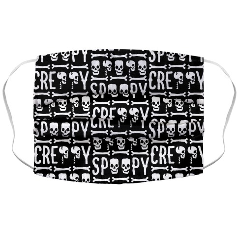 Spoopy & Creppy Pattern Accordion Face Mask